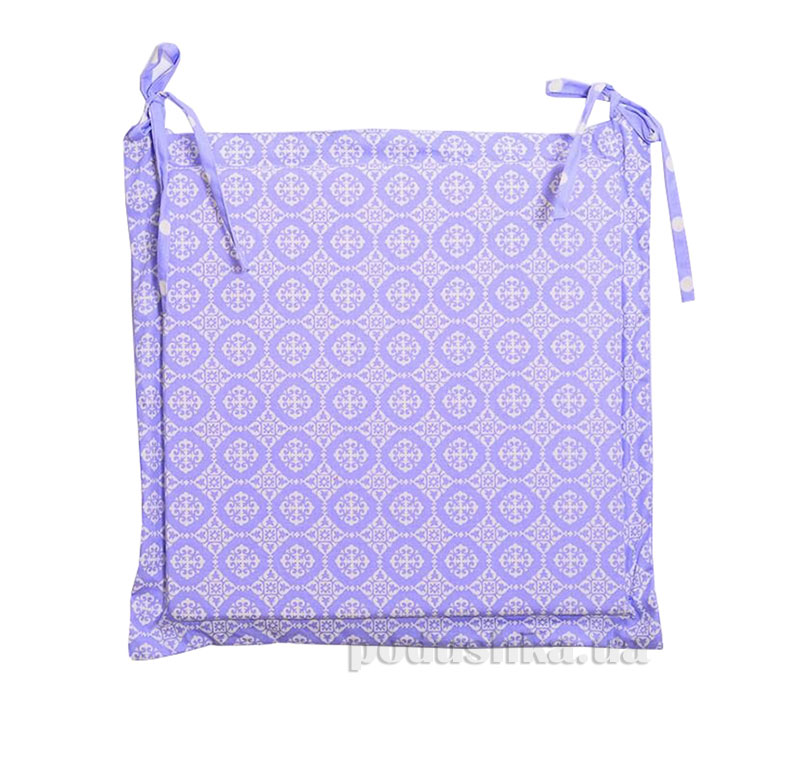 Подушка-сидушка для стула Прованс Классик Ажур лаванда
