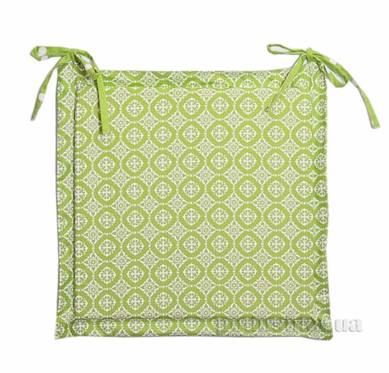 Подушка-сидушка для стула Прованс Классик Ажур олива
