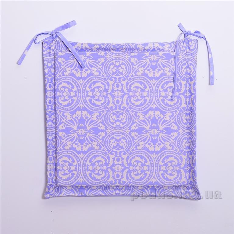 Подушка-сидушка для стула Прованс Классик Фреска лаванда