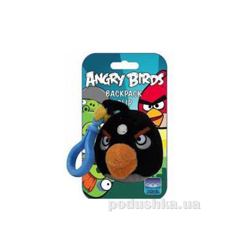 Подвеска на рюкзак Angry Birds птичка черная 90891