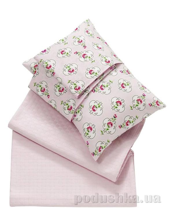 Покрывало пикейное Issimo Liona pink розовое