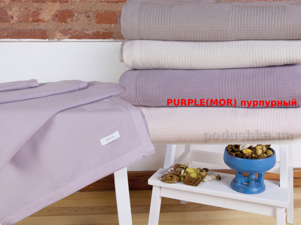 Покрывало пикейное Pavia Pike purple пурпурный