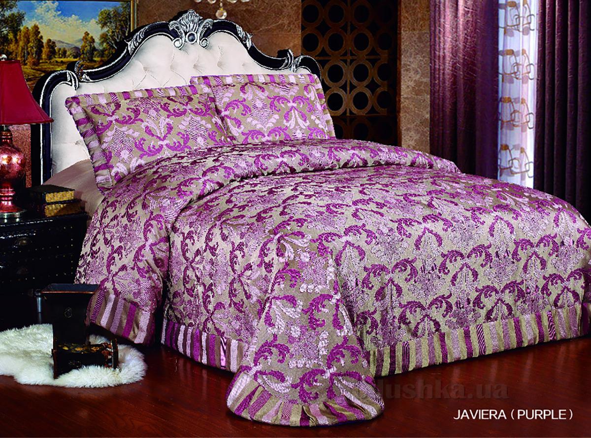 Покрывало с наволочками ARYA Javiera purple