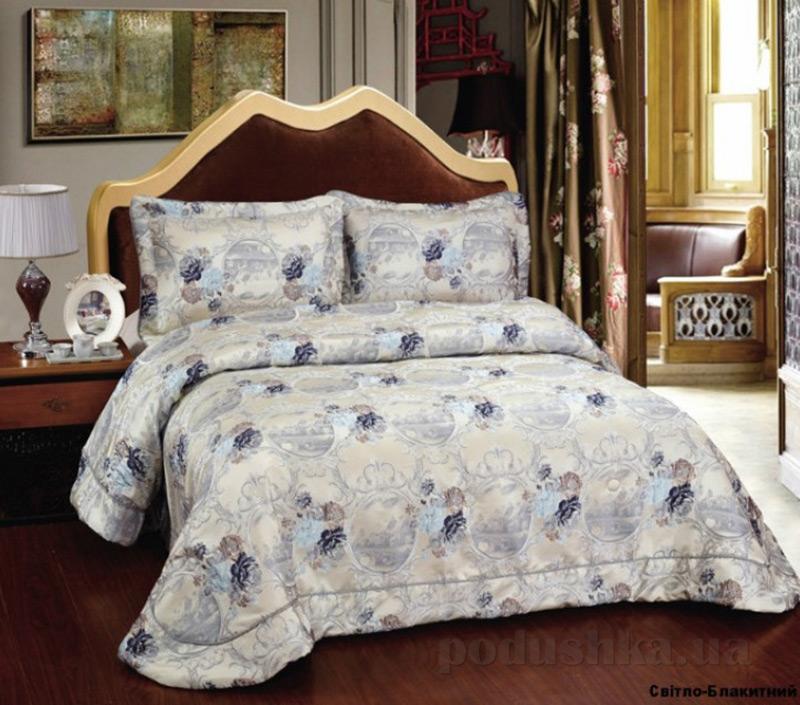 Покрывало с наволочками Arya TR1001113 Violetta светло-голубое