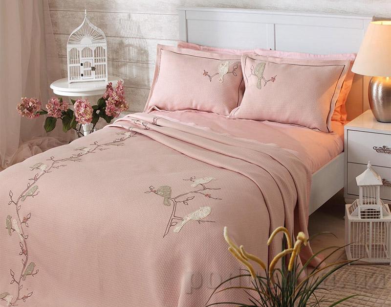 Покрывало с наволочками Moda Voce Birdy Pink