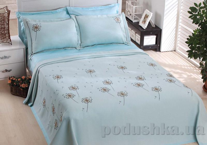 Покрывало с наволочками Moda Voce Dandelion голубой