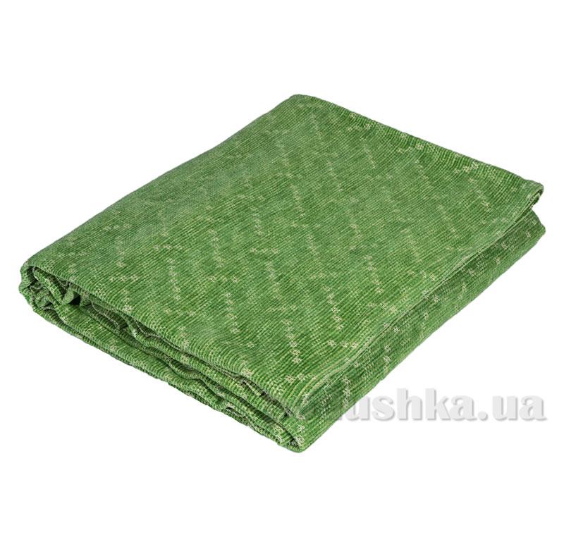 Покрывало шенилловое Klippan Saule 8115 зеленое