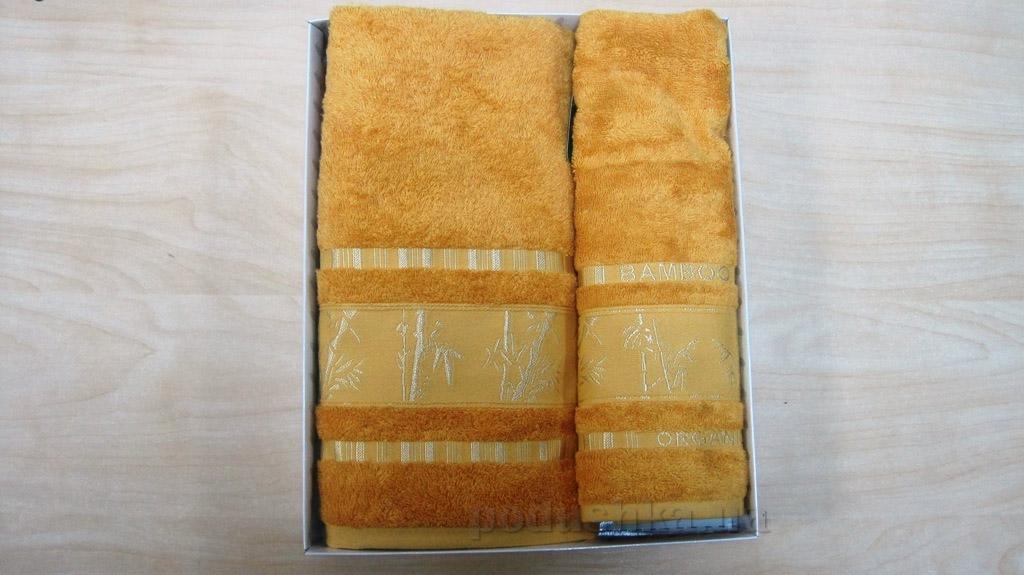 Полотенце бамбук Mariposa Gold апельсин