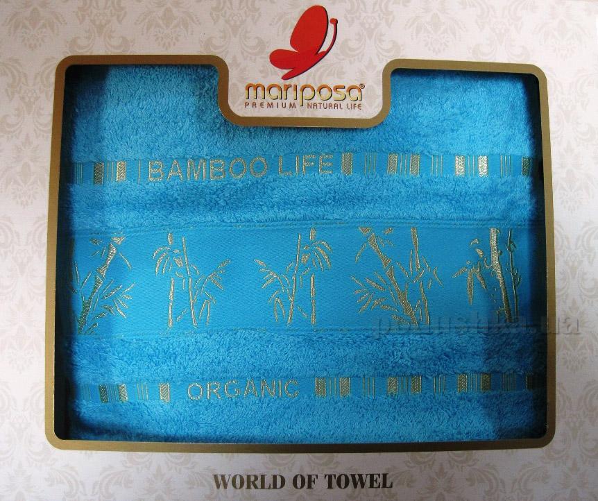 Полотенце бамбук Mariposa Gold бирюза