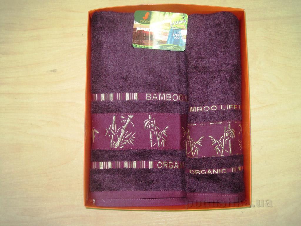 Полотенце бамбук Mariposa Gold ежевичное