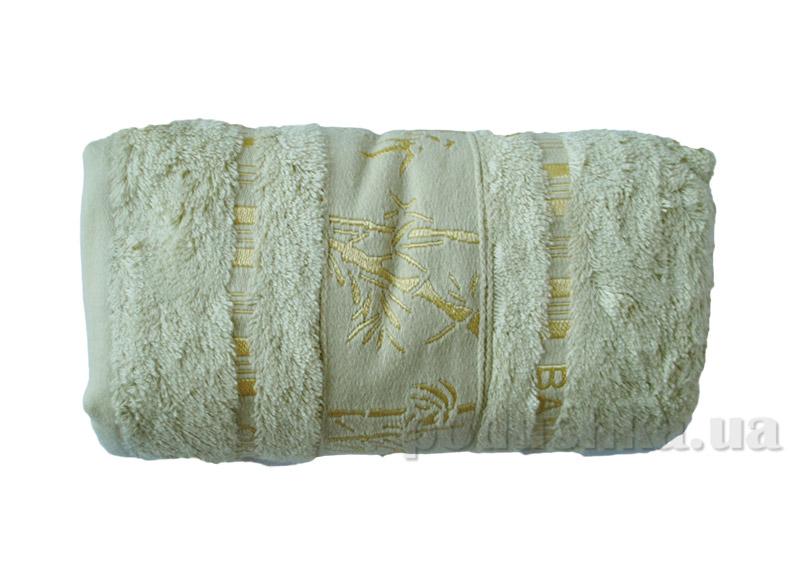 Полотенце бамбук Mariposa Gold нежно-ванильное