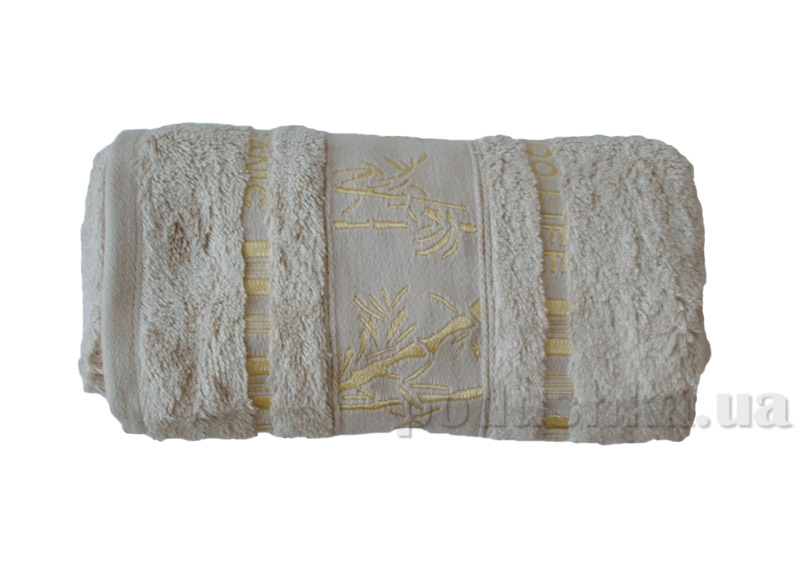 Полотенце бамбук Mariposa Gold Light нежно-бежевое