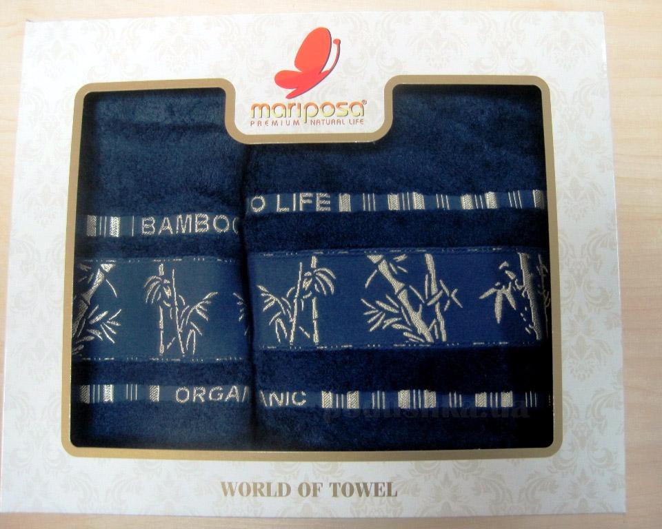 Полотенце бамбук Mariposa Gold тёмно-синее