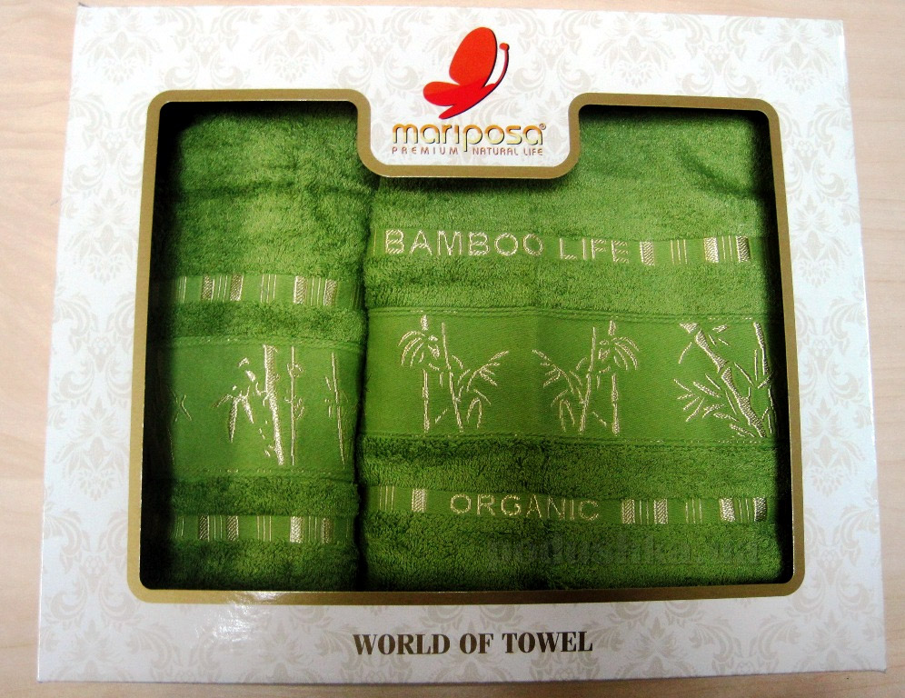 Полотенце бамбук Mariposa Gold ярко-салатовое
