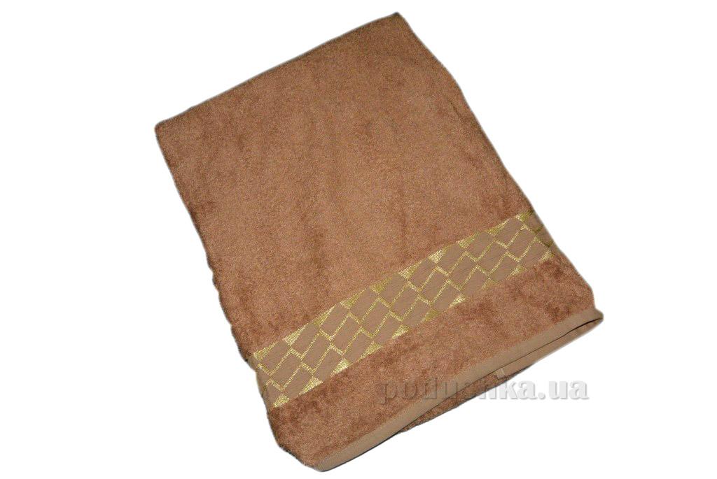 Полотенце бамбук Mariposa Kirac gold темно-бежевое