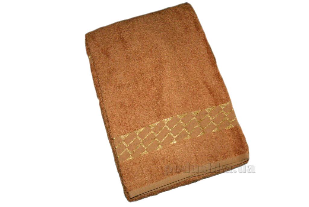 Полотенце бамбук Mariposa Kirac gold терракотовое