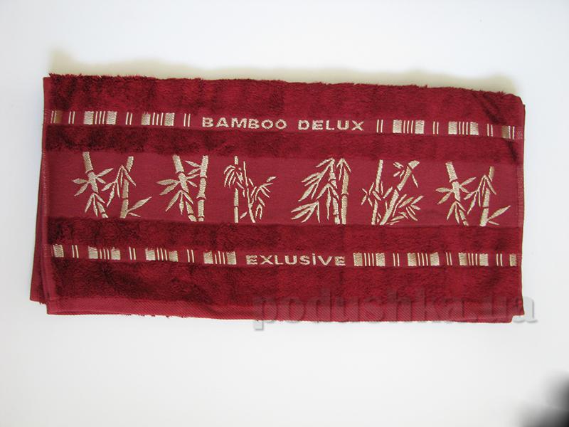 Полотенце бамбук Missemily бордовый