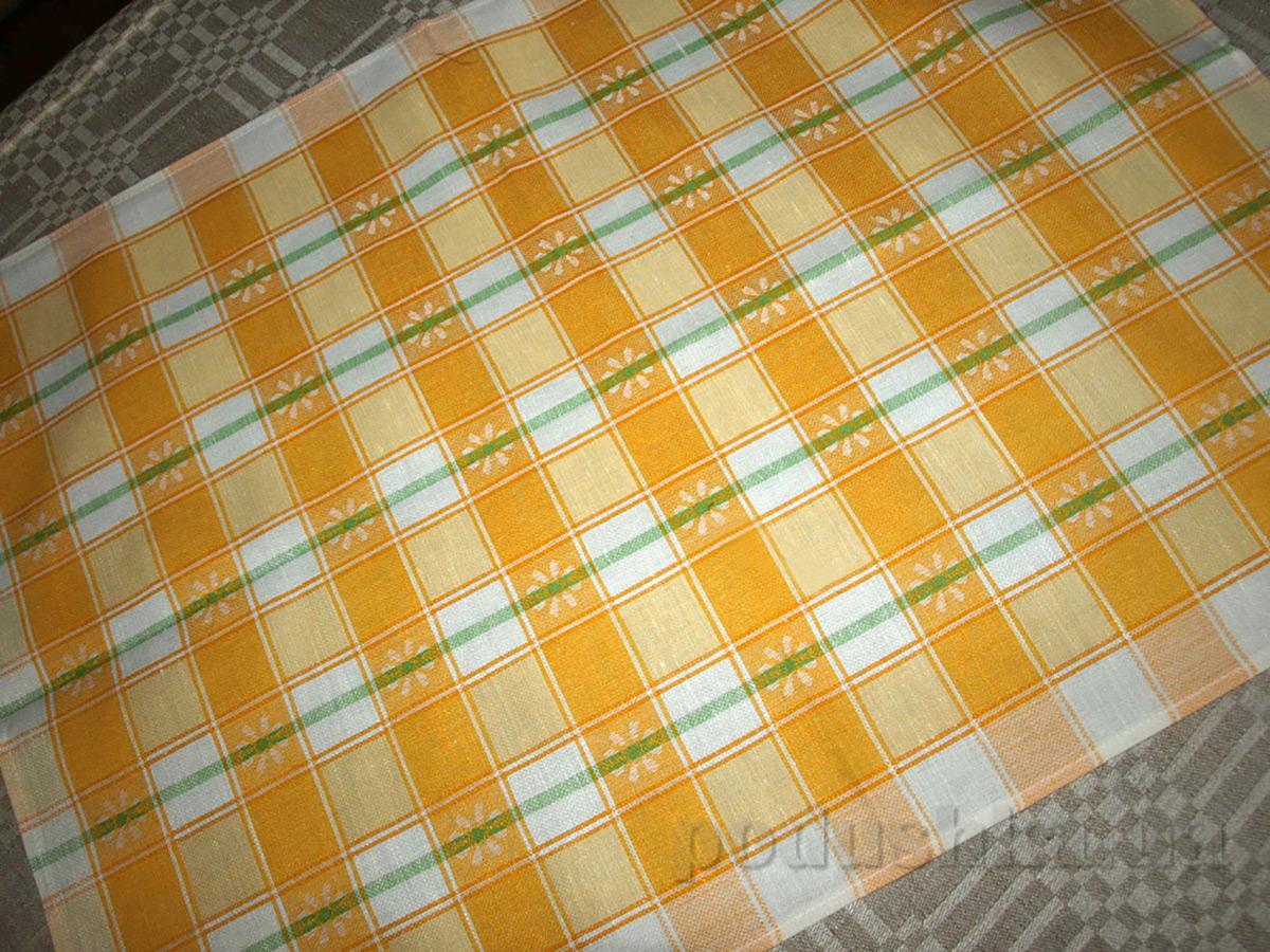 Полотенце кухонное из льна Маргаритка 06С22-ШР
