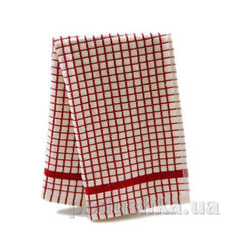 Полотенце кухонное Клетка бело-бордовая