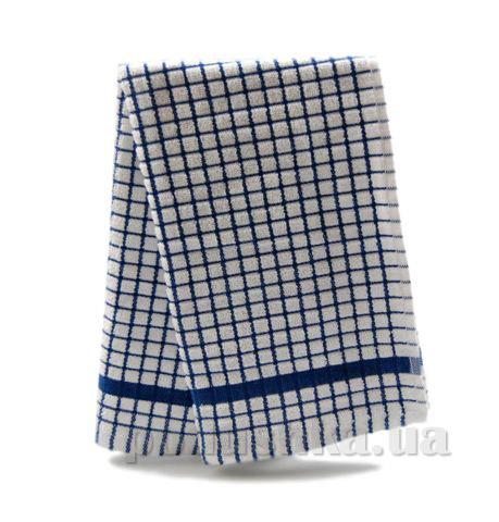 Полотенце кухонное Клетка бело-синяя