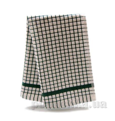 Полотенце кухонное Клетка бело-зелёная