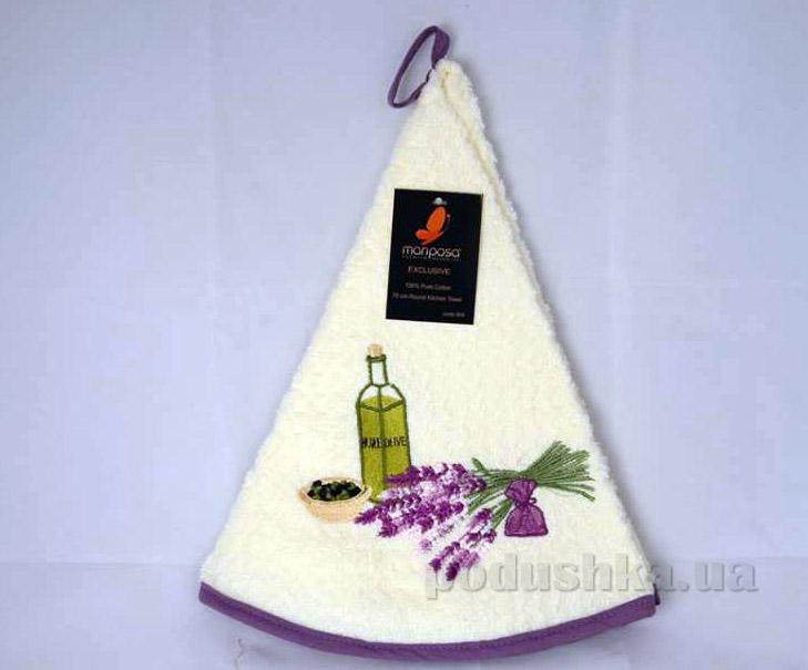 Полотенце кухонное круглое Mariposa Букет крем 004