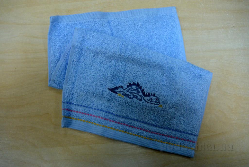 Полотенце кухонное махровое Altinbasak Дракон голубой