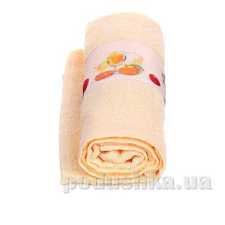 Полотенце кухонное махровое Руно 705 персиковое