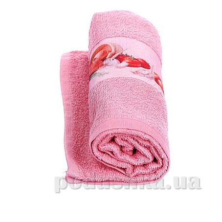 Полотенце кухонное махровое Руно 705 розовое