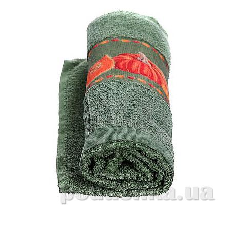 Полотенце кухонное махровое Руно 705 зелёное