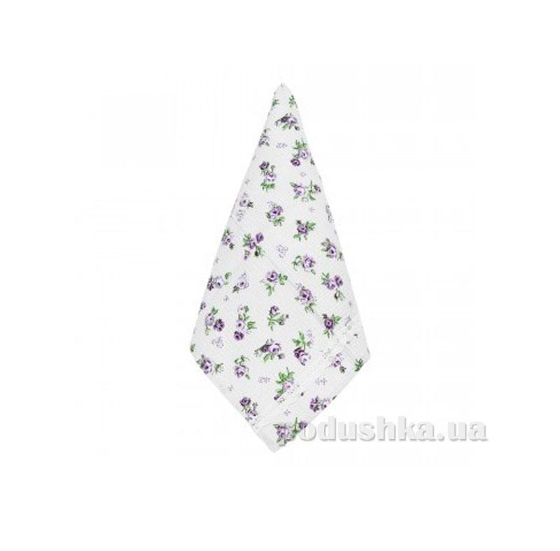Полотенце кухонное вафельное Прованс Lilac rose