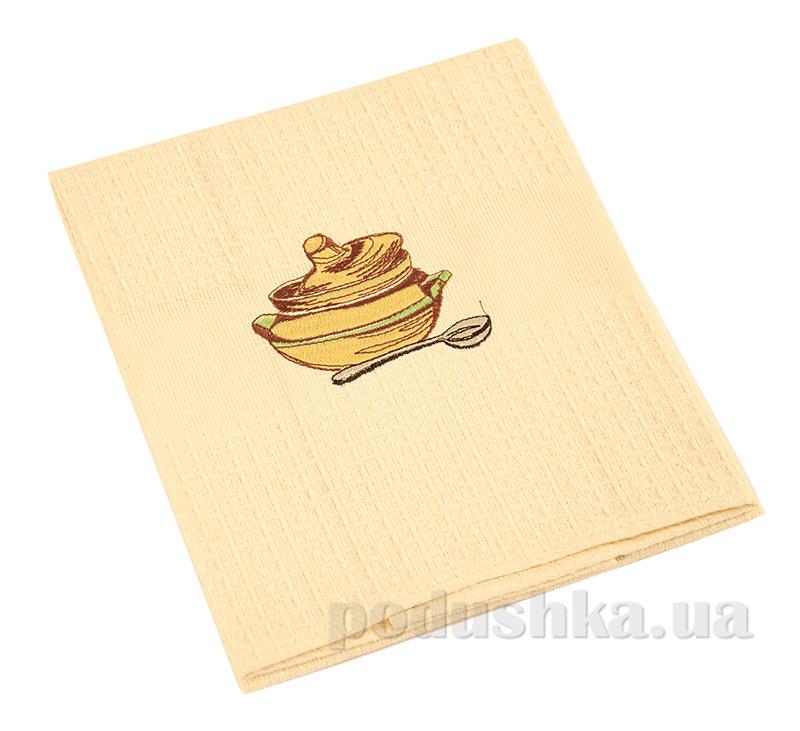 Полотенце кухонное вафельное Ярослав 19 Горшочек