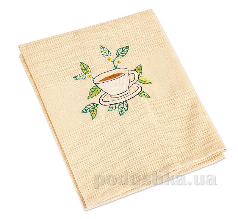 Полотенце кухонное вафельное Ярослав 4 Чашка чая