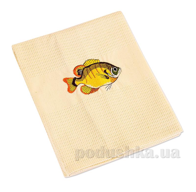 Полотенце кухонное вафельное Ярослав 6 Рыбка
