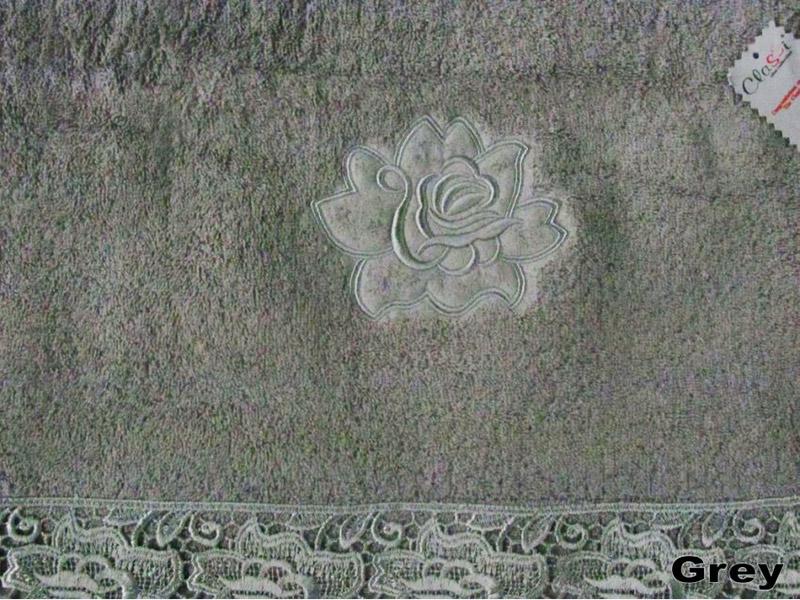 Полотенце махровое Arya Classi Noelle серое