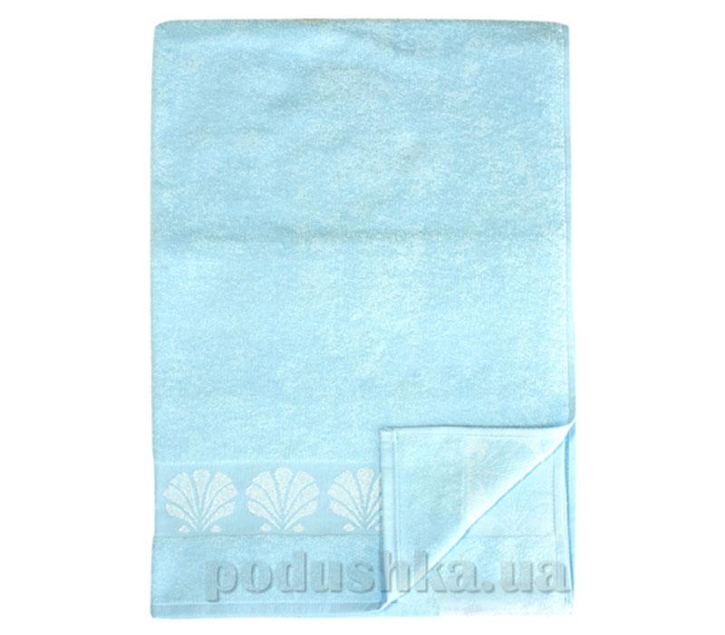 Полотенце махровое банное Belle-Textile Seashell голубой