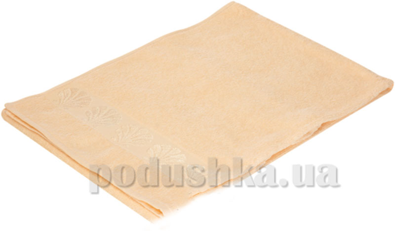 Полотенце махровое банное Belle-Textile Seashell персиковый