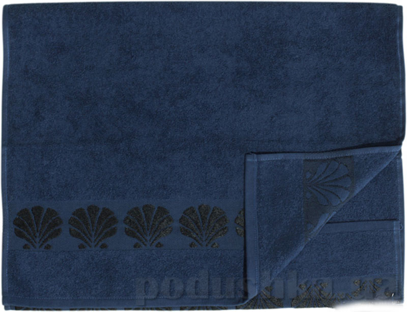 Полотенце махровое банное Belle-Textile Seashell синий