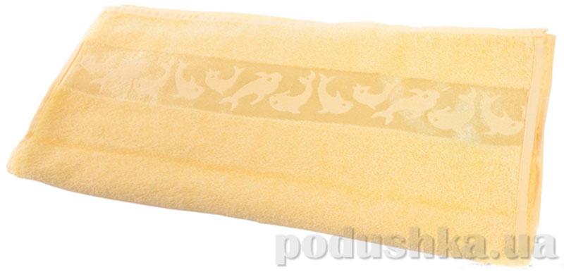 Полотенце махровое банное Maisonette Dolphin желтый