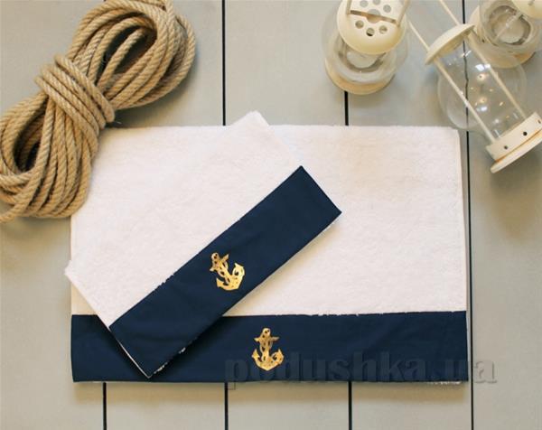 Полотенце махровое Barine Anchor navy синее