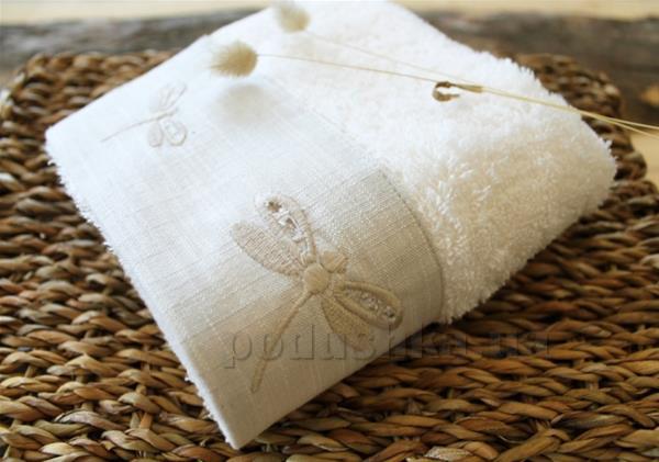 Полотенце махровое Barine Dragonfly ecru молочное