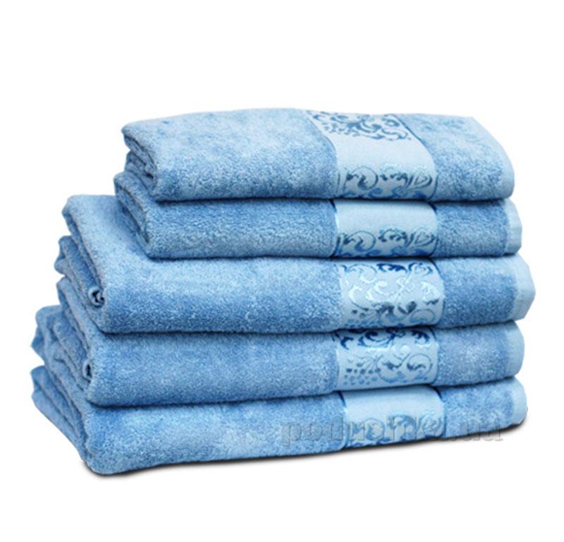 Полотенце махровое Бемби голубое