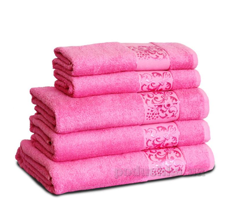 Полотенце махровое Бемби розовое