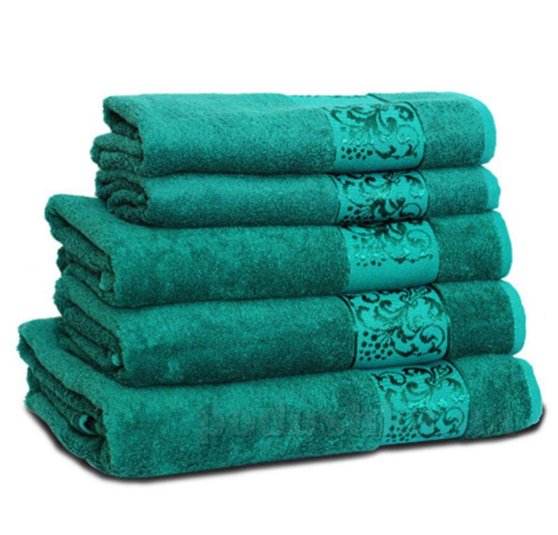 Полотенце махровое Бемби зеленое