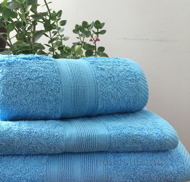 Полотенце махровое 500 г Nostra голубое
