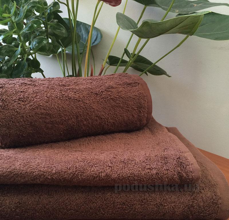 Полотенце махровое без бордюра 500 г Nostra шоколад