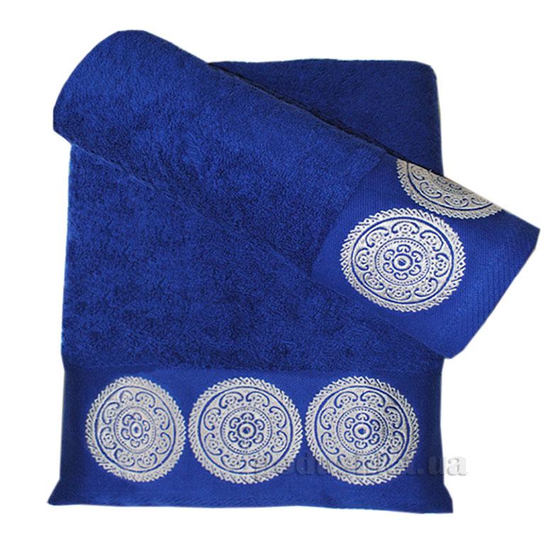 Полотенце махровое Damask Nostra синее
