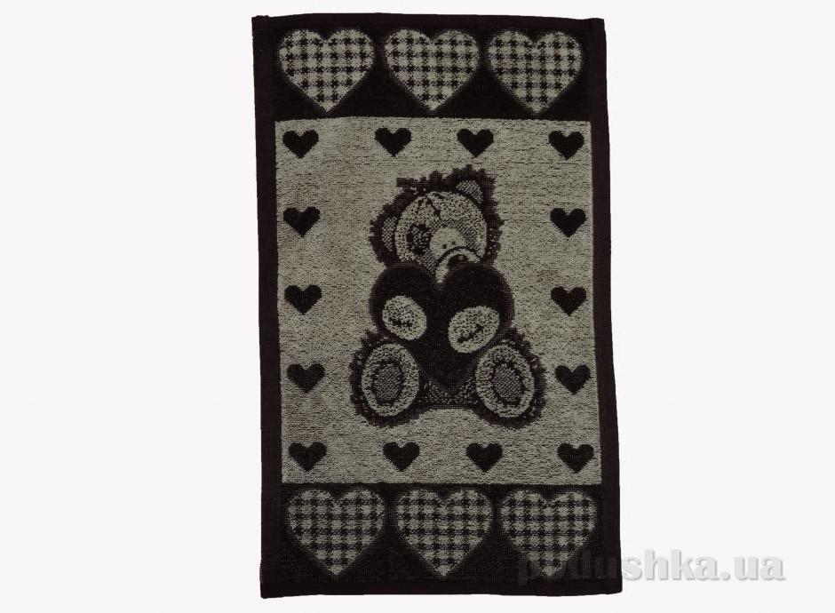 Полотенце махровое для кухни Речицкий текстиль Медмедик Кофейное