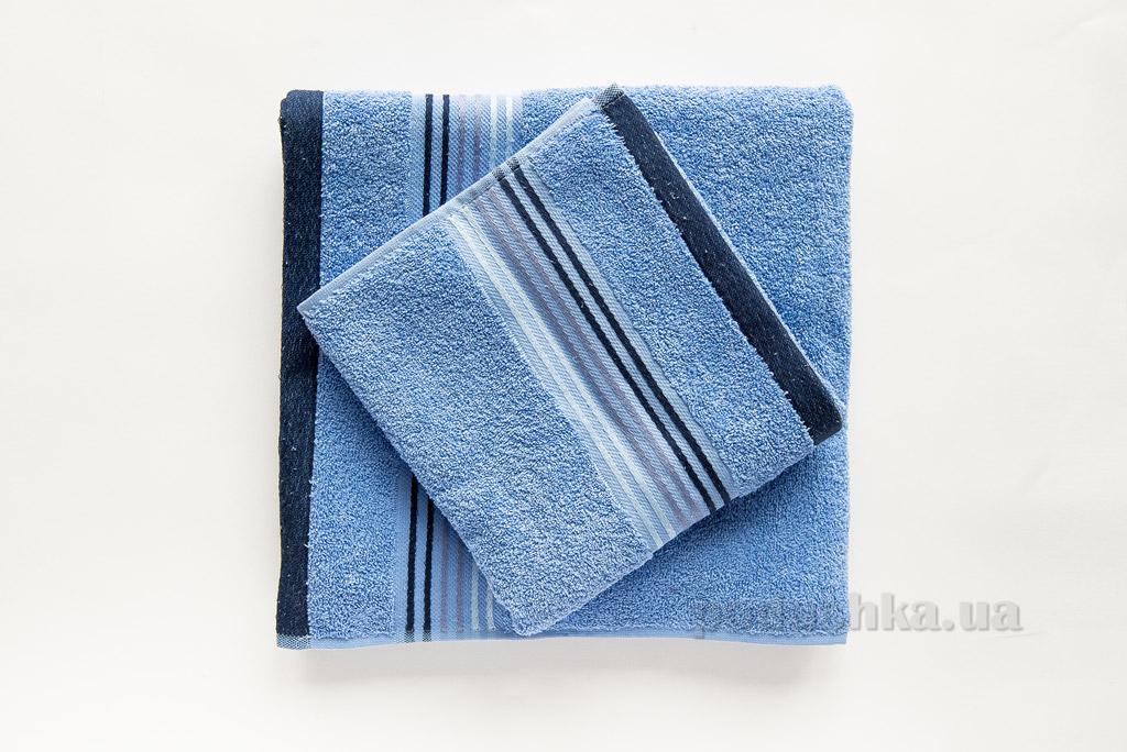 Полотенце махровое Ella Line Liness голубое