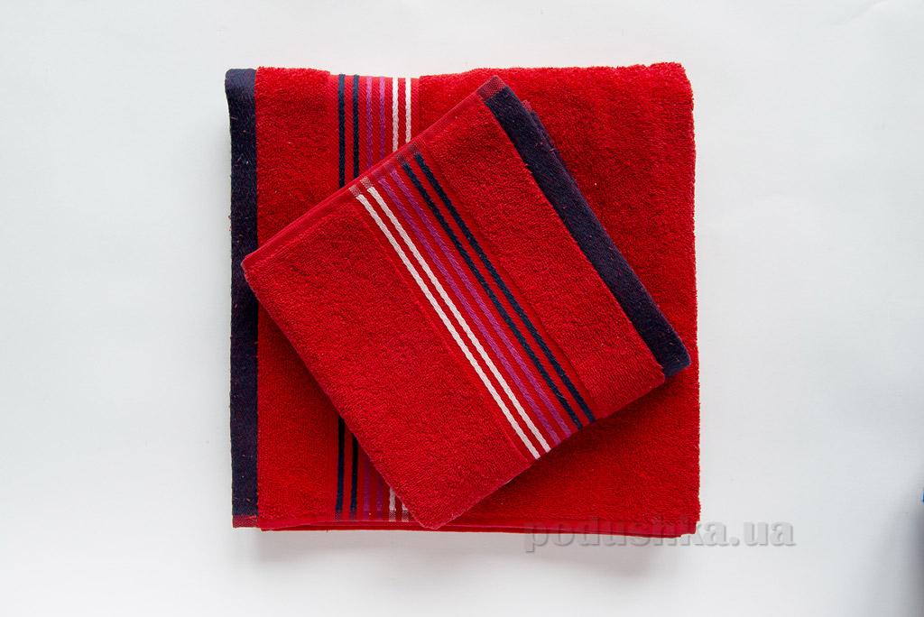 Полотенце махровое Ella Line Liness красное